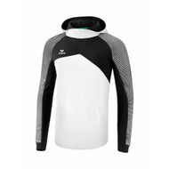 Erima Sportkleding Erima Premium One 2.0 sweatshirt with hoody Black/White