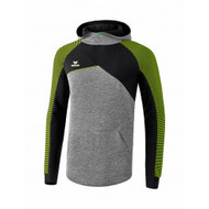 Erima Sportkleding Erima Premium One 2.0 sweatshirt with hoody Green/Black/Grey