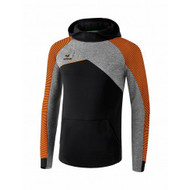 Erima Sportkleding Erima Premium One 2.0 sweatshirt with hoody Orange/Black/Grey