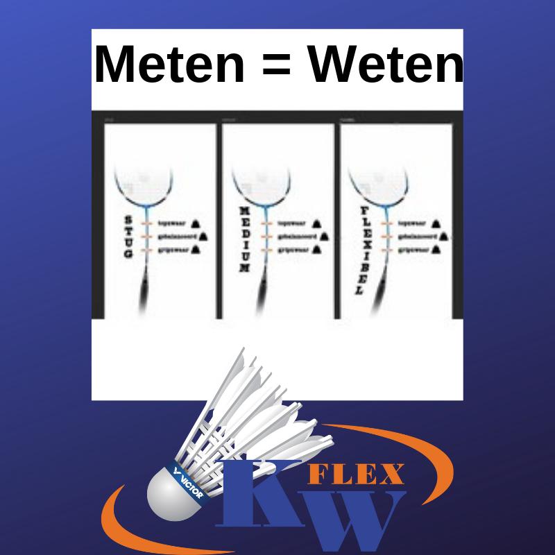 Badminton rackets Meten = Weten