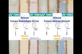Yonex one-shot order Astrox Smash & Nanoflare Drive