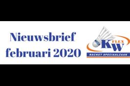 KW FLEX Nieuwsbrief februari 2020: Fel gekleurd de badminton baan op?