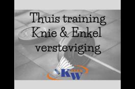 Knie & enkel verstevigende training thuis