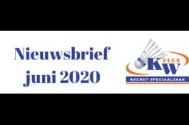 KW FLEX Nieuwsbrief juni 2020: Badmintonsets tegen scherpe prijzen