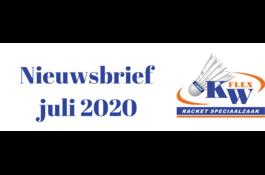 KW FLEX Nieuwsbrief juli 2020: Maak kans op een GRATIS badminton shirt!
