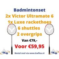 Victor Badmintonset  Ultramate 6 + shuttles