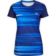 Victor Victor T-Shirt Female T-04100 B Blue