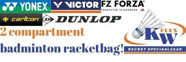 choose your 2 compartment badminton racketbag here!