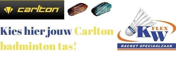 Koop hier jouw Carlton 2 vaks badminton tas