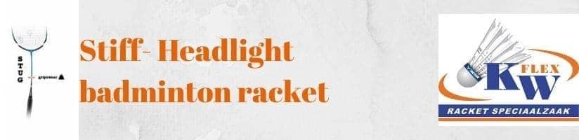 Stijf - gripzwaar badminton racket
