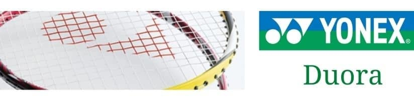 Yonex Duora badminton rackets