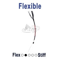 Flexibel badminton racket