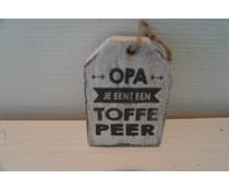 Houten hanger opa toffe peer