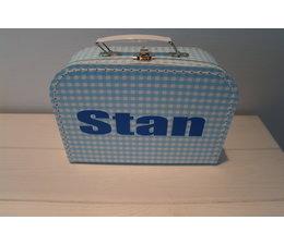 Koffertje blauw met naam