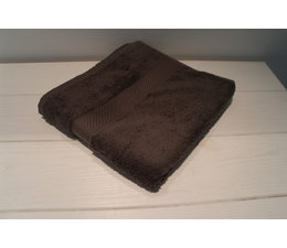 Badhanddoek (donker grijs) borduren met naam