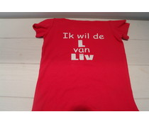 Shirt  ik wil de L van Liv