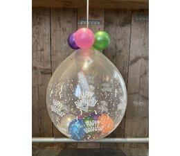 Ballon gevuld met cadeautje (verjaardag )