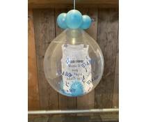 Ballon gevuld (geboorte jongen )