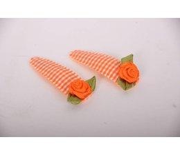 haarspeldjes groot  oranje bloem