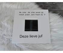 Afscheidskado Juf of Meester /Spiegel