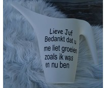 Afscheidskado Juf of Meester /Gieter