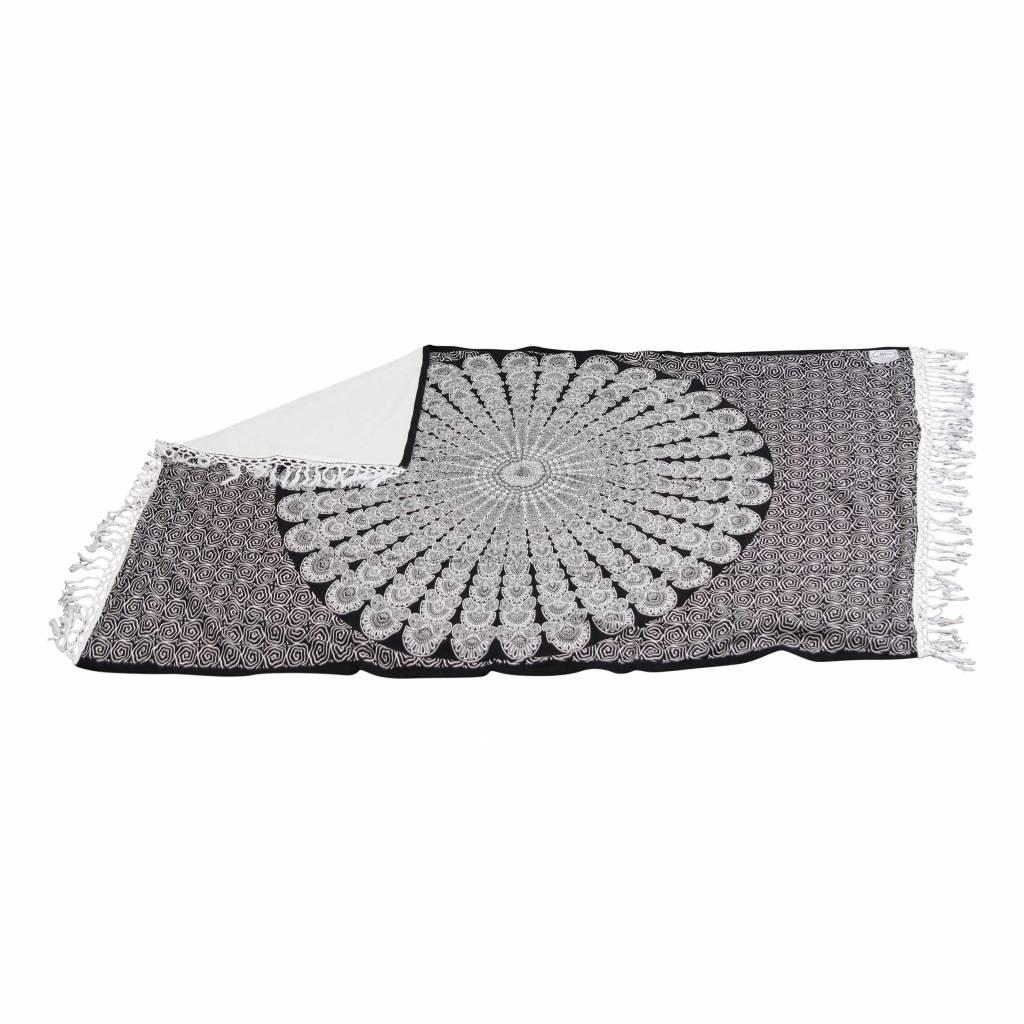 Myroundie Myroundie – roundie – badstof strandlaken XL  – 100% katoen – 140x220 cm – 774