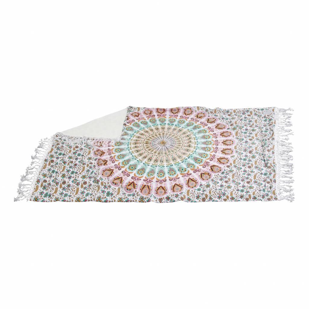 Myroundie Myroundie – roundie – badstof strandlaken XL  – 100% katoen – 140x220 cm – 778