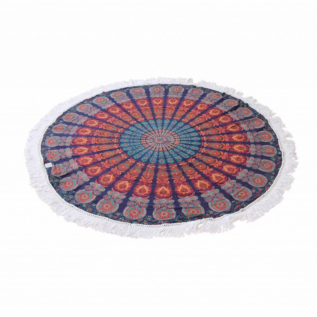 Myroundie Myroundie - roundie - rond strandlaken - 100% katoen – 142
