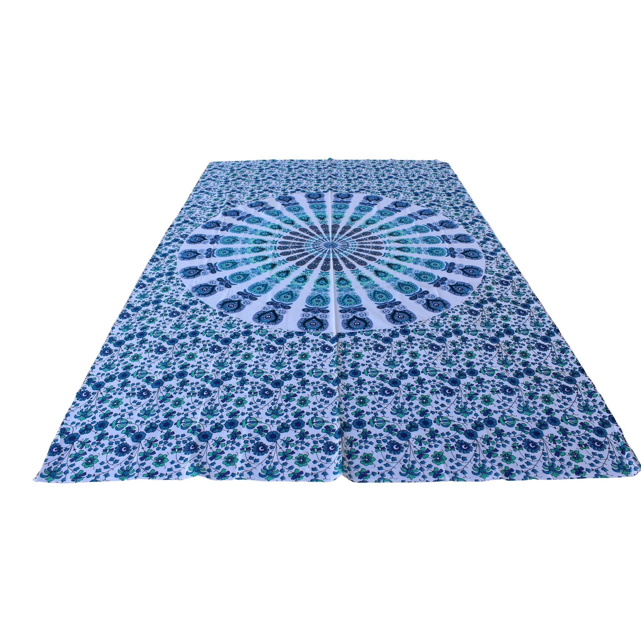 Myroundie Myroundie – roundie  - rechthoekig strandlaken – strandkleed - yoga kleed - picknickkleed - speelkleed - muurkleed - 100% katoen  - 140 x 210 cm - 812