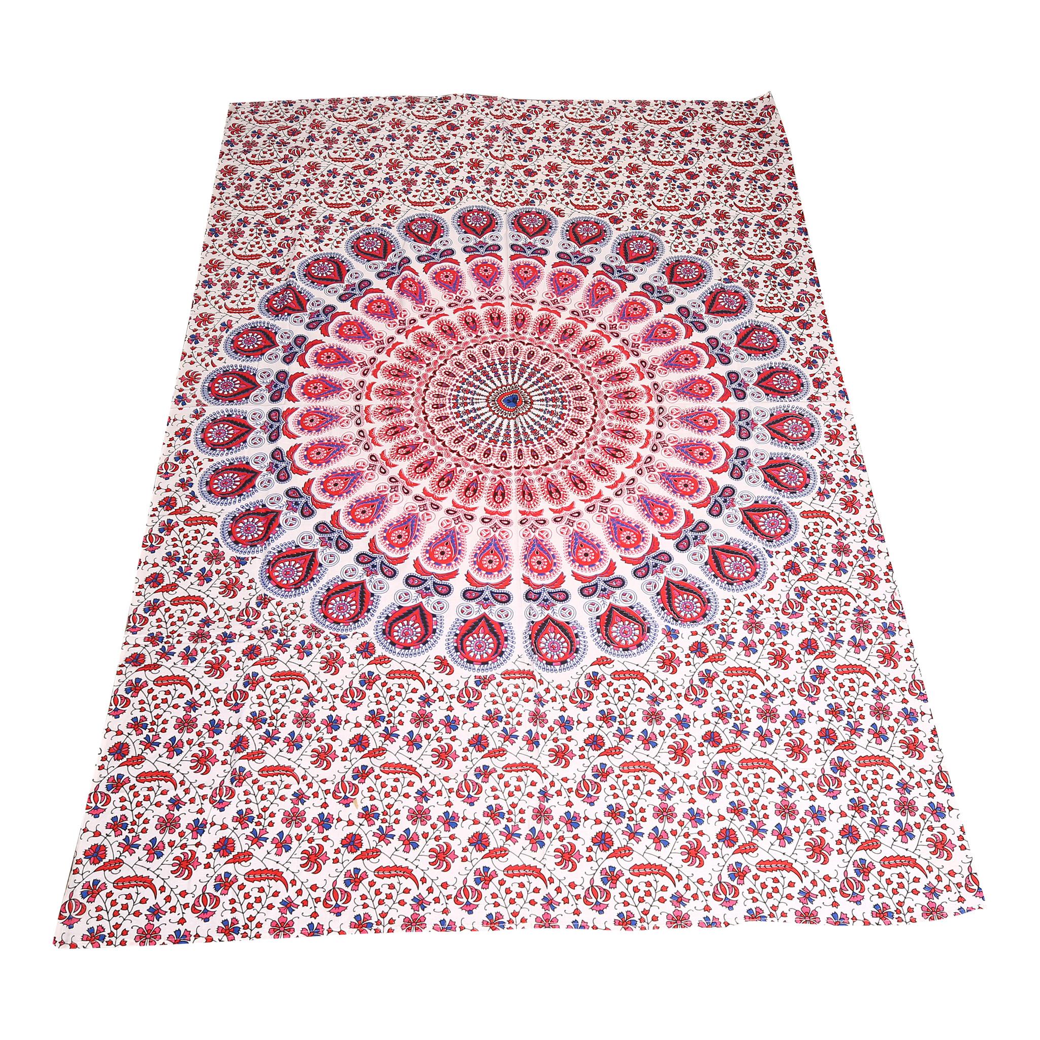 Myroundie Myroundie – roundie  - rechthoekig strandlaken – strandkleed - yoga kleed - picknickkleed - speelkleed - muurkleed - 100% katoen  - 140 x 210 cm - 806