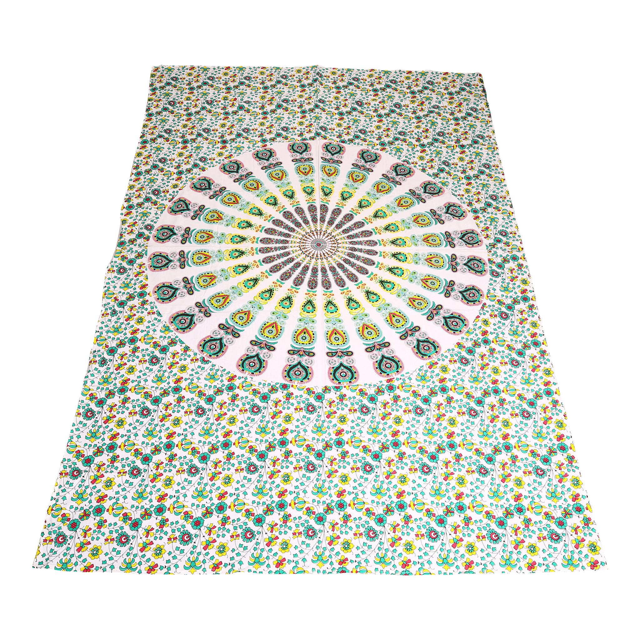 Myroundie Myroundie – roundie  - rechthoekig strandlaken – strandkleed - yoga kleed - picknickkleed - speelkleed - muurkleed - 100% katoen  - 140 x 210 cm - 805
