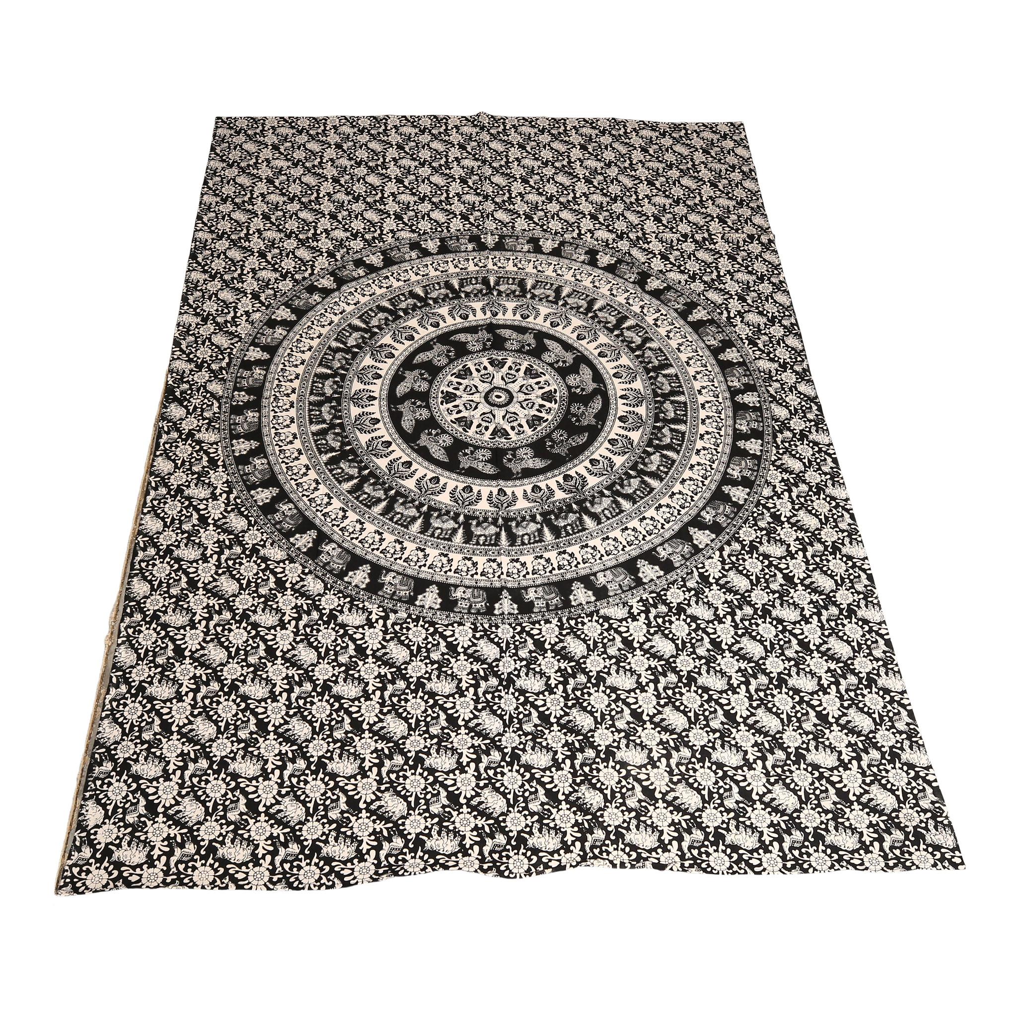 Myroundie Myroundie – roundie  - rechthoekig strandlaken – strandkleed - yoga kleed - picknickkleed - speelkleed - muurkleed - 100% katoen  - 140 x 210 cm - 823