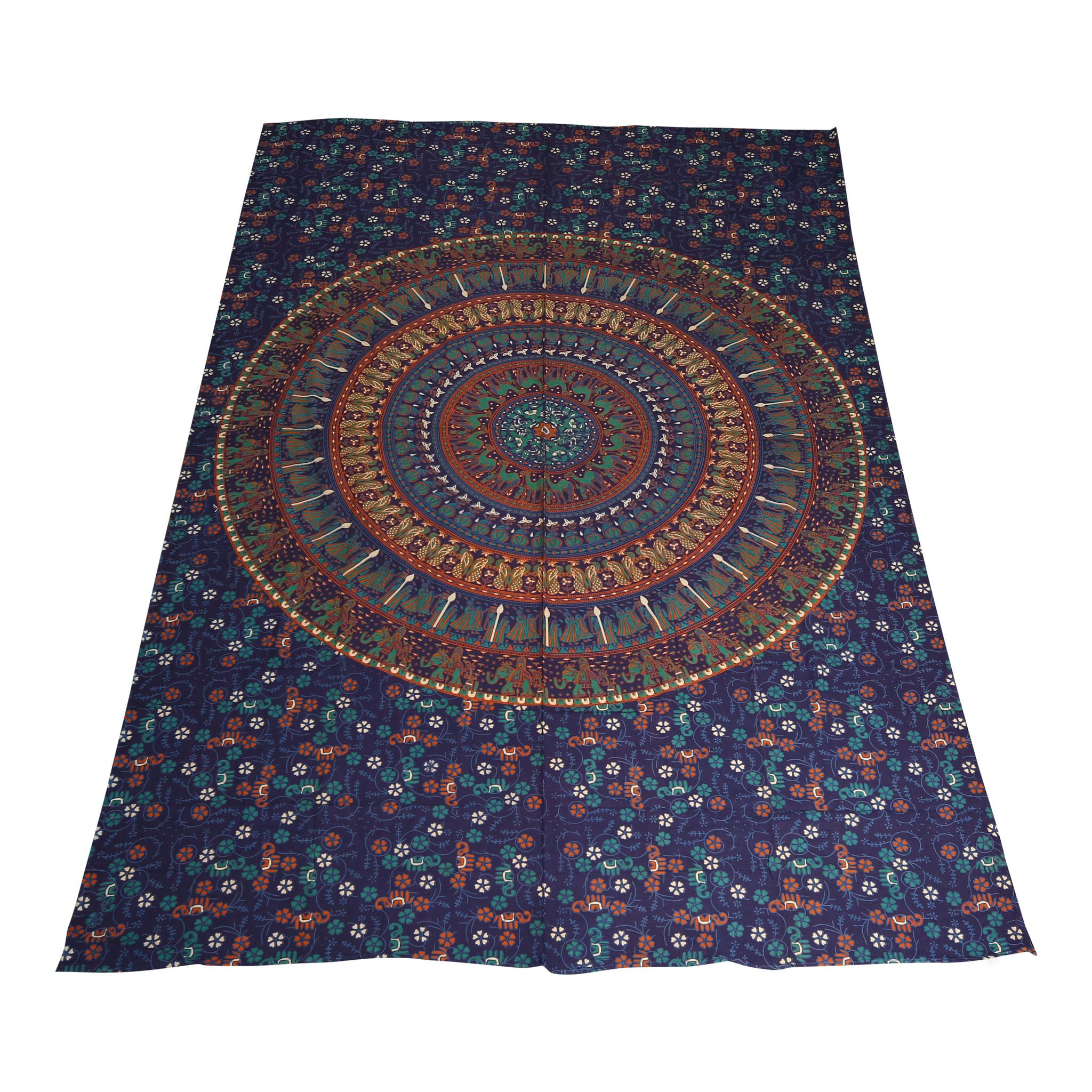 Myroundie Myroundie – roundie  - rechthoekig strandlaken – strandkleed - yoga kleed - picknickkleed - speelkleed - muurkleed - 100% katoen  - 140 x 210 cm - 834