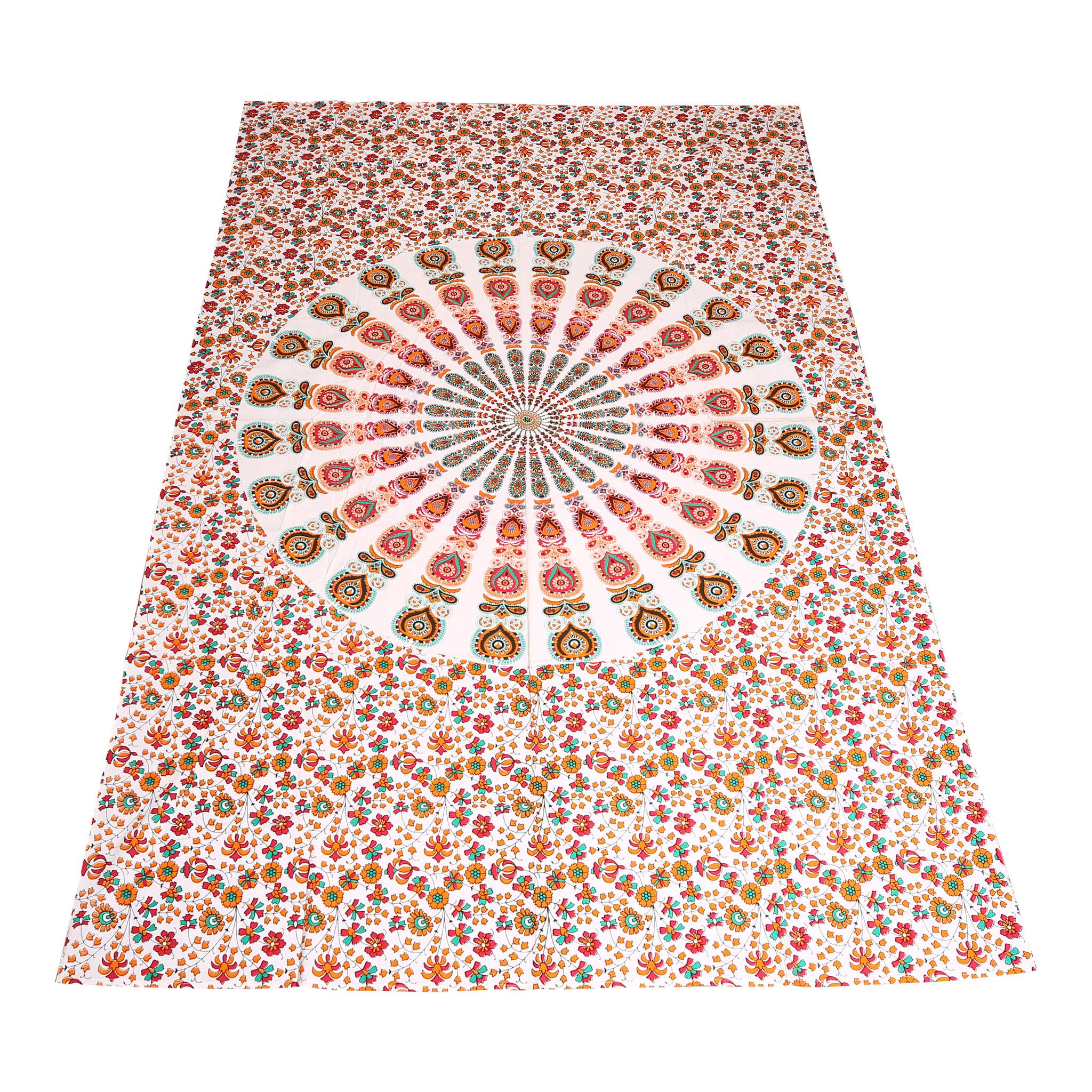 Myroundie Myroundie – roundie  - rechthoekig strandlaken – strandkleed - yoga kleed - picknickkleed - speelkleed - muurkleed - 100% katoen  - 140 x 210 cm - 807