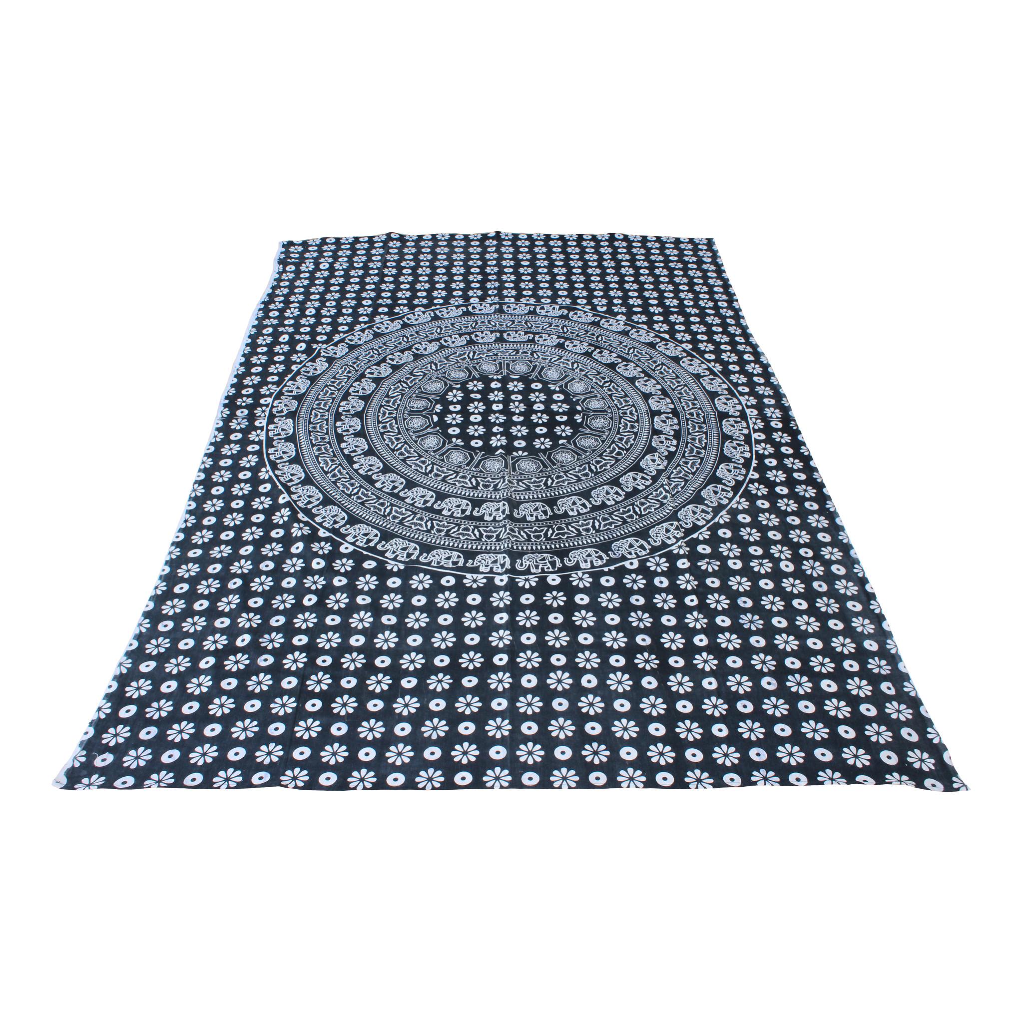 Myroundie Myroundie – roundie  - rechthoekig strandlaken – strandkleed - yoga kleed - picknickkleed - speelkleed - muurkleed - 100% katoen  - 140 x 210 cm - 830