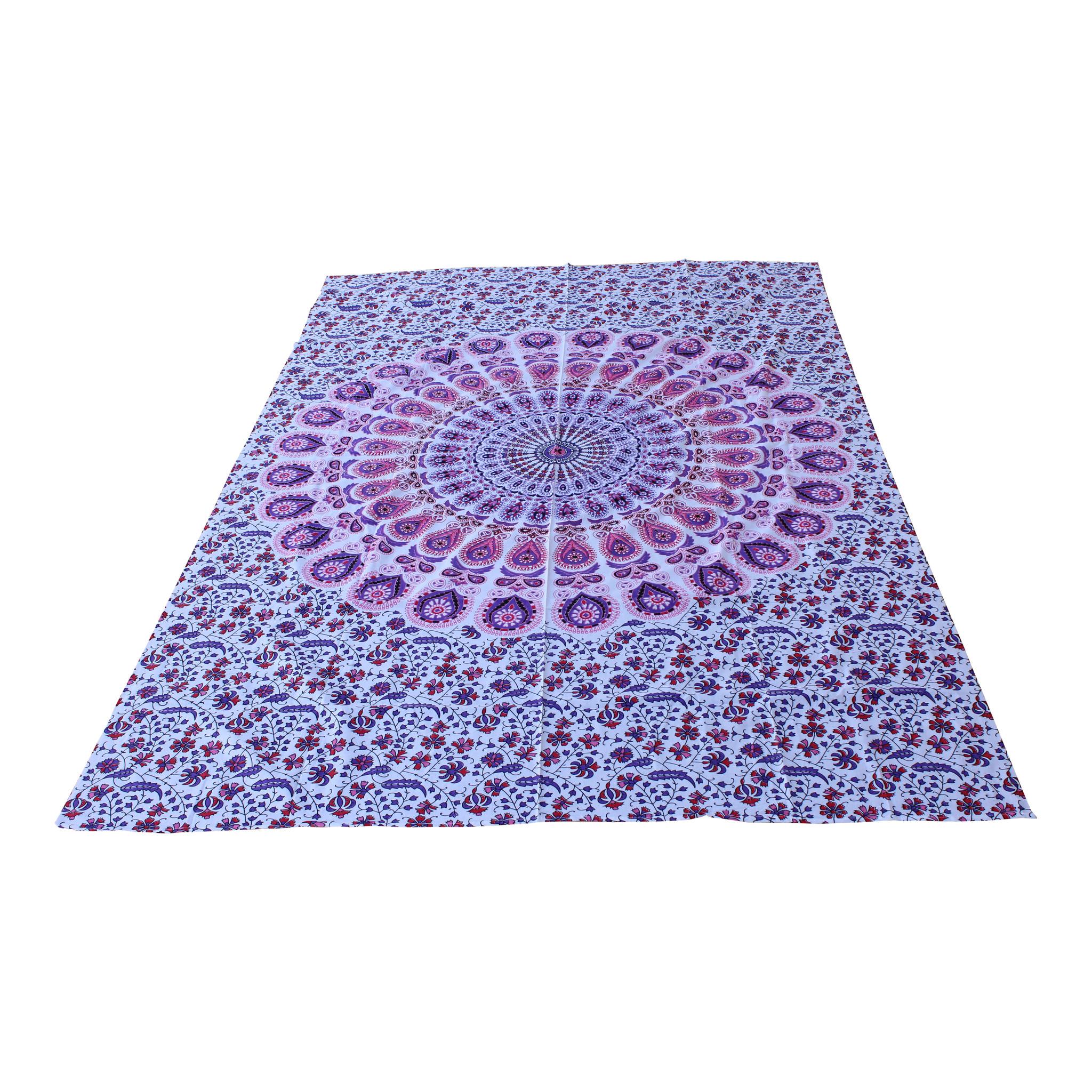 Myroundie Myroundie – roundie  - rechthoekig strandlaken – strandkleed - yoga kleed - picknickkleed - speelkleed - muurkleed - 100% katoen  - 140 x 210 cm - 810