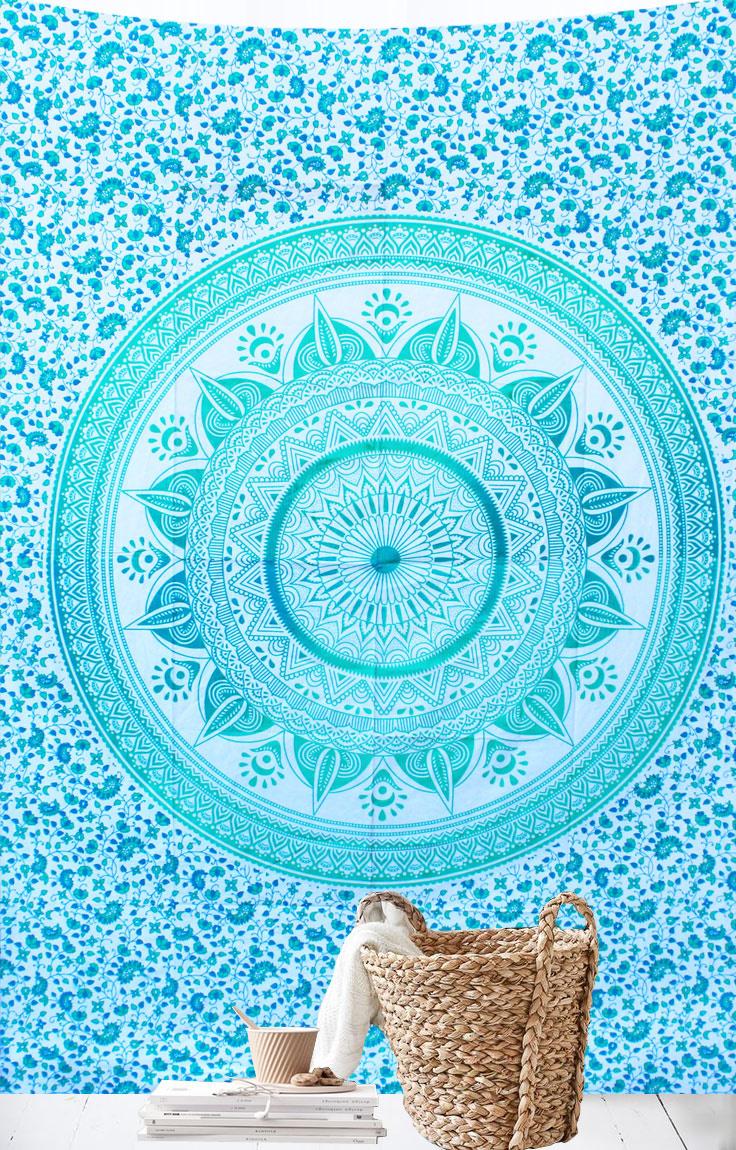 Myroundie Myroundie – roundie  - rechthoekig strandlaken – strandkleed - yoga kleed - picknickkleed - speelkleed - muurkleed - 100% katoen  - 140 x 210 cm - 811