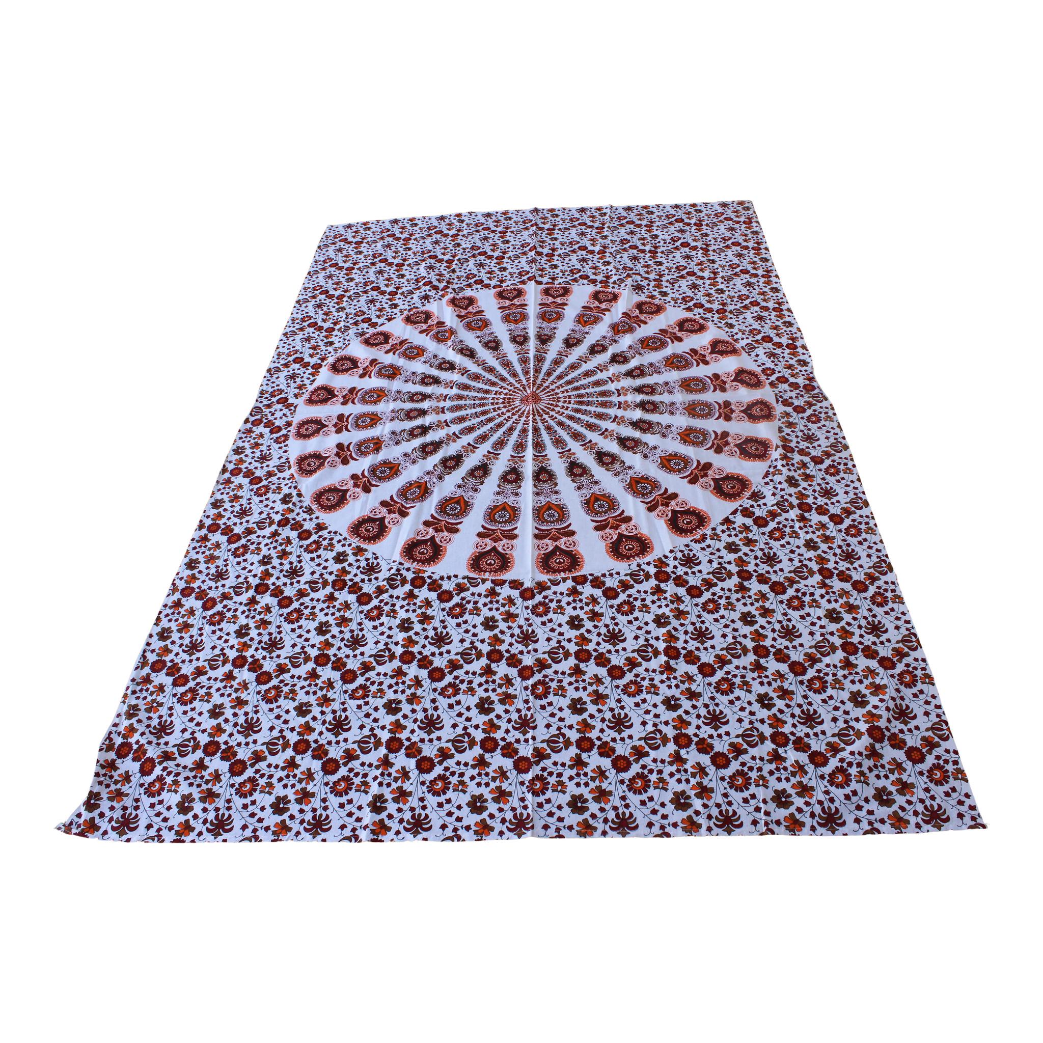 Myroundie Myroundie – roundie  - rechthoekig strandlaken – strandkleed - yoga kleed - picknickkleed - speelkleed - muurkleed - 100% katoen  - 140 x 210 cm - 813