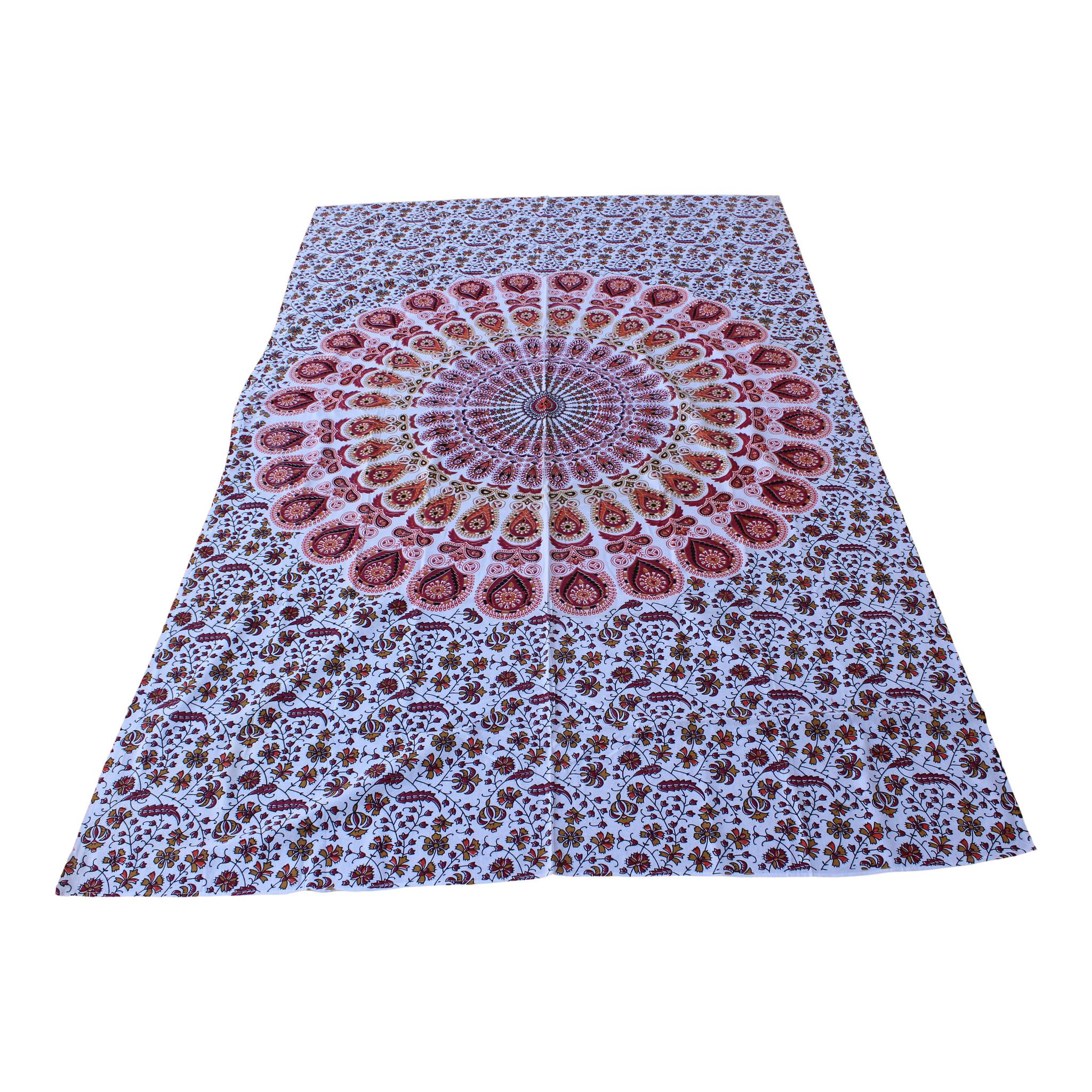 Myroundie Myroundie – roundie  - rechthoekig strandlaken – strandkleed - yoga kleed - picknickkleed - speelkleed - muurkleed - 100% katoen  - 140 x 210 cm - 814