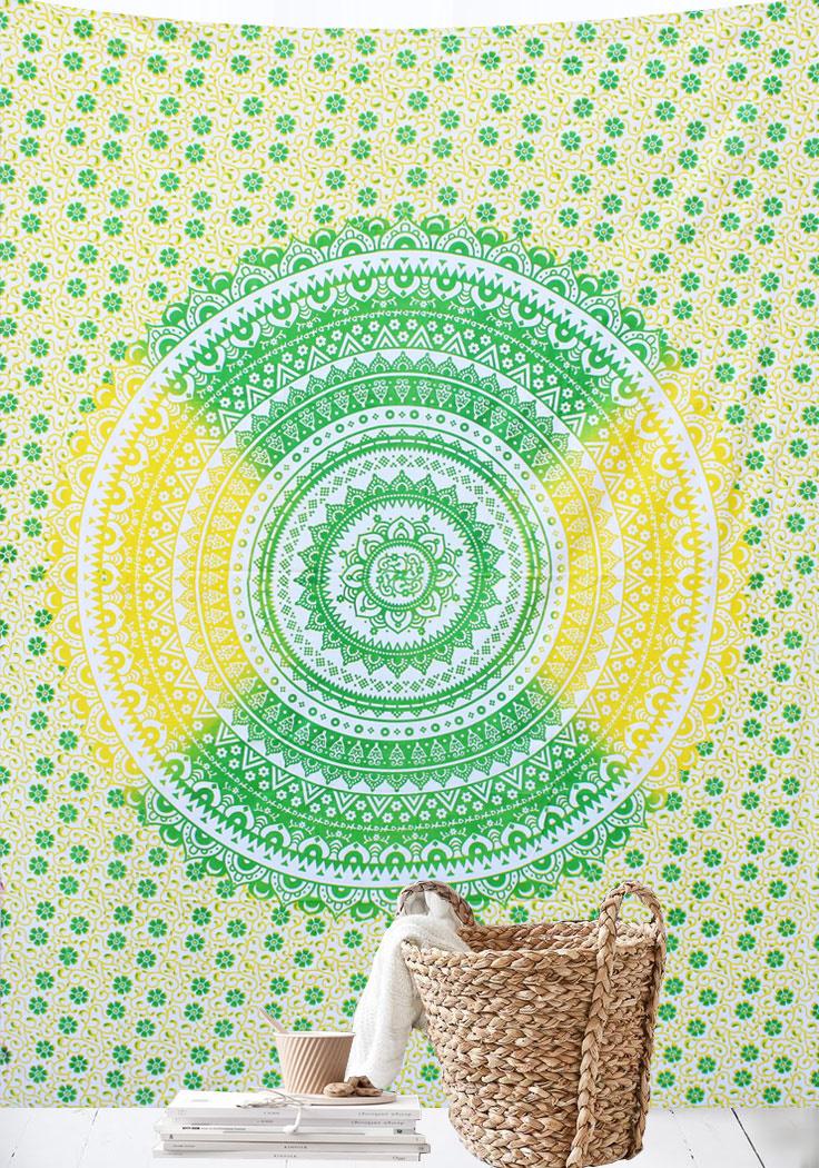 Myroundie Myroundie – roundie  - rechthoekig strandlaken – strandkleed - yoga kleed - picknickkleed - speelkleed - muurkleed - 100% katoen  - 140 x 210 cm - 824