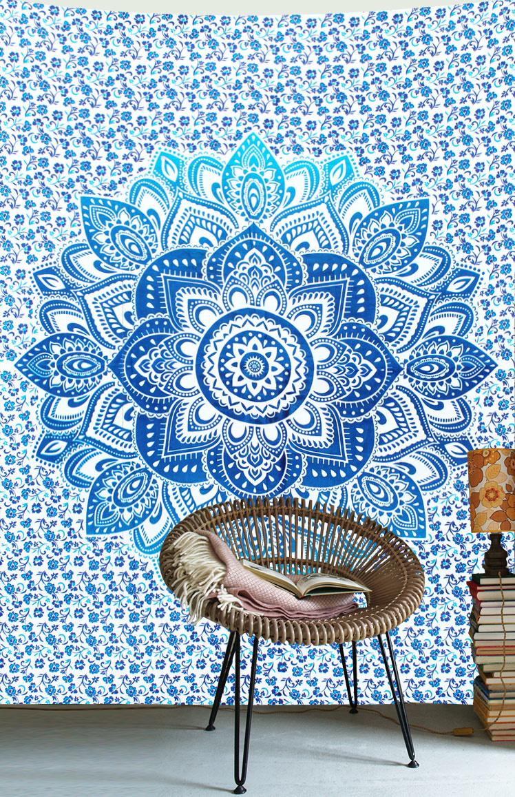 Myroundie Myroundie – roundie  - rechthoekig strandlaken – strandkleed - yoga kleed - picknickkleed - speelkleed - muurkleed - 100% katoen  - 140 x 210 cm - 827