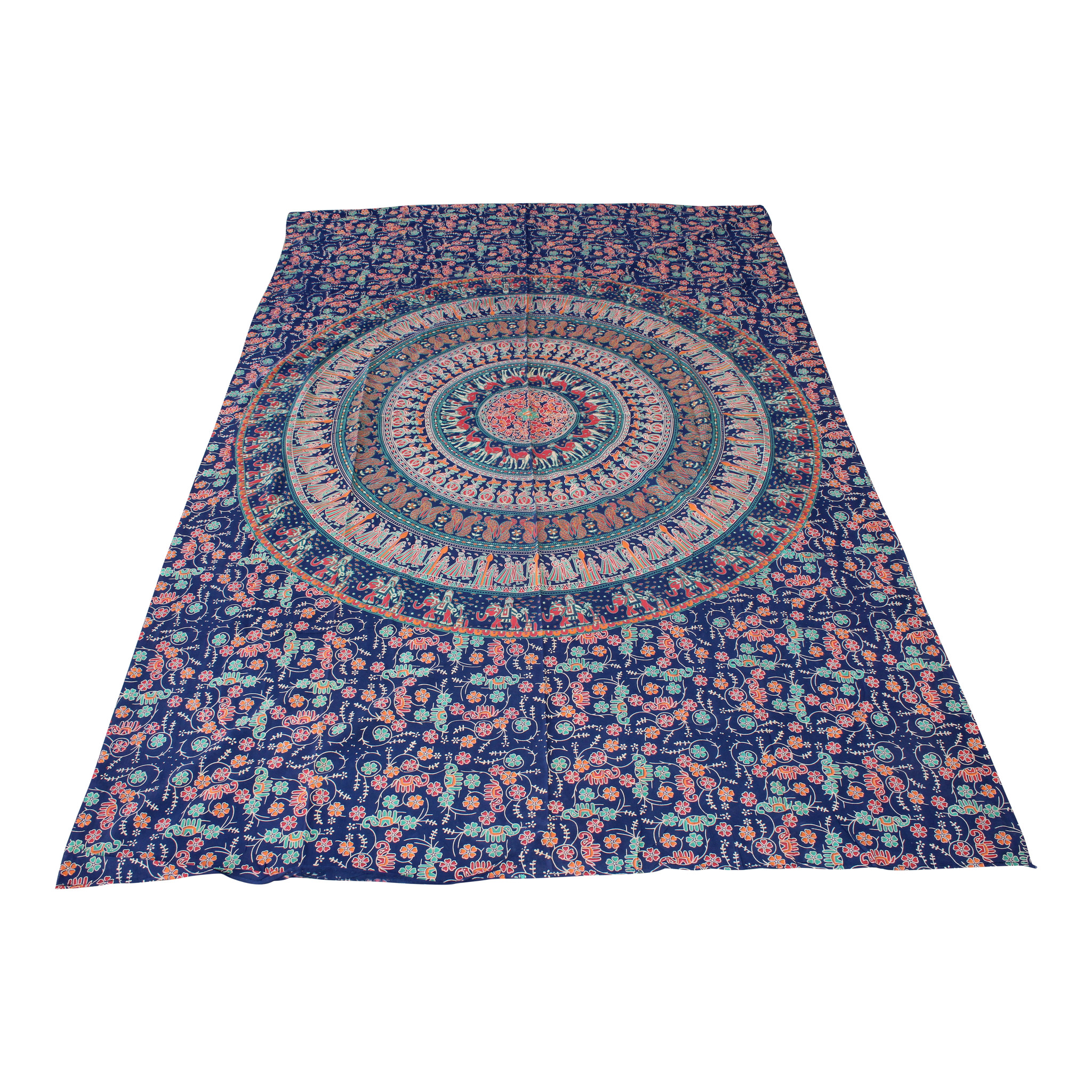 Myroundie Myroundie – roundie  - rechthoekig strandlaken – strandkleed - yoga kleed - picknickkleed - speelkleed - muurkleed - 100% katoen  - 140 x 210 cm - 835