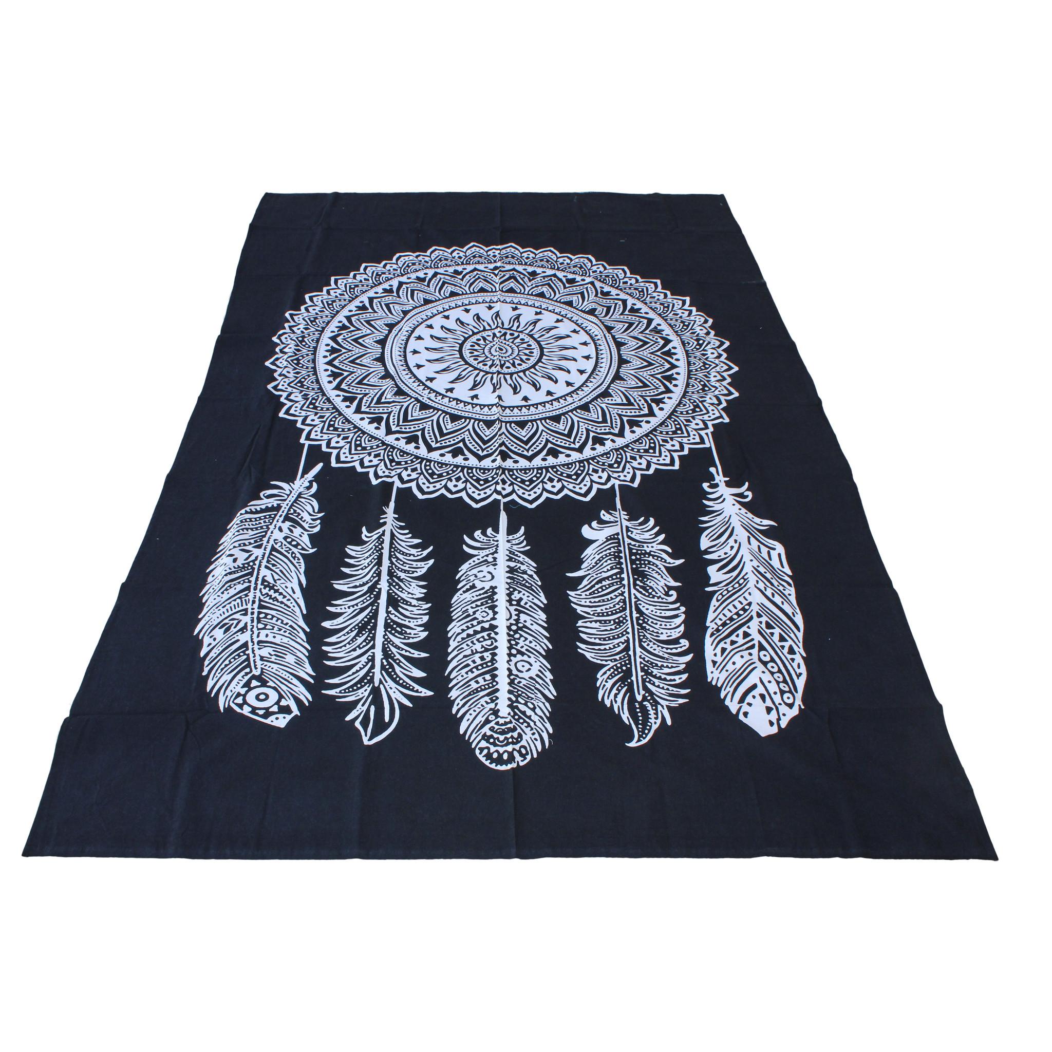 Myroundie Myroundie – roundie  - rechthoekig strandlaken – strandkleed - yoga kleed - picknickkleed - speelkleed - muurkleed - 100% katoen  - 140 x 210 cm - 836