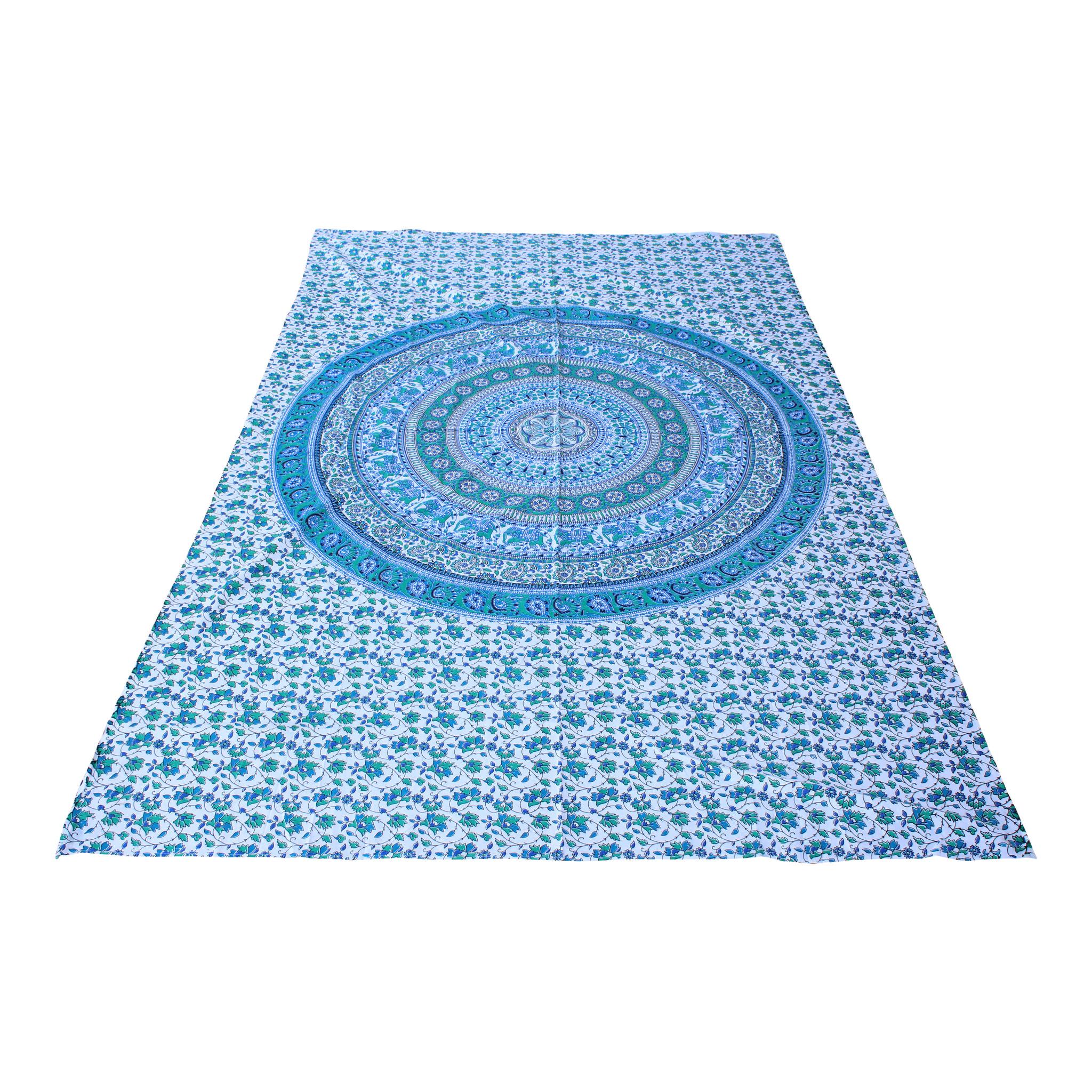 Myroundie Myroundie – roundie  - rechthoekig strandlaken – strandkleed - yoga kleed - picknickkleed - speelkleed - muurkleed - 100% katoen  - 140 x 210 cm - 839