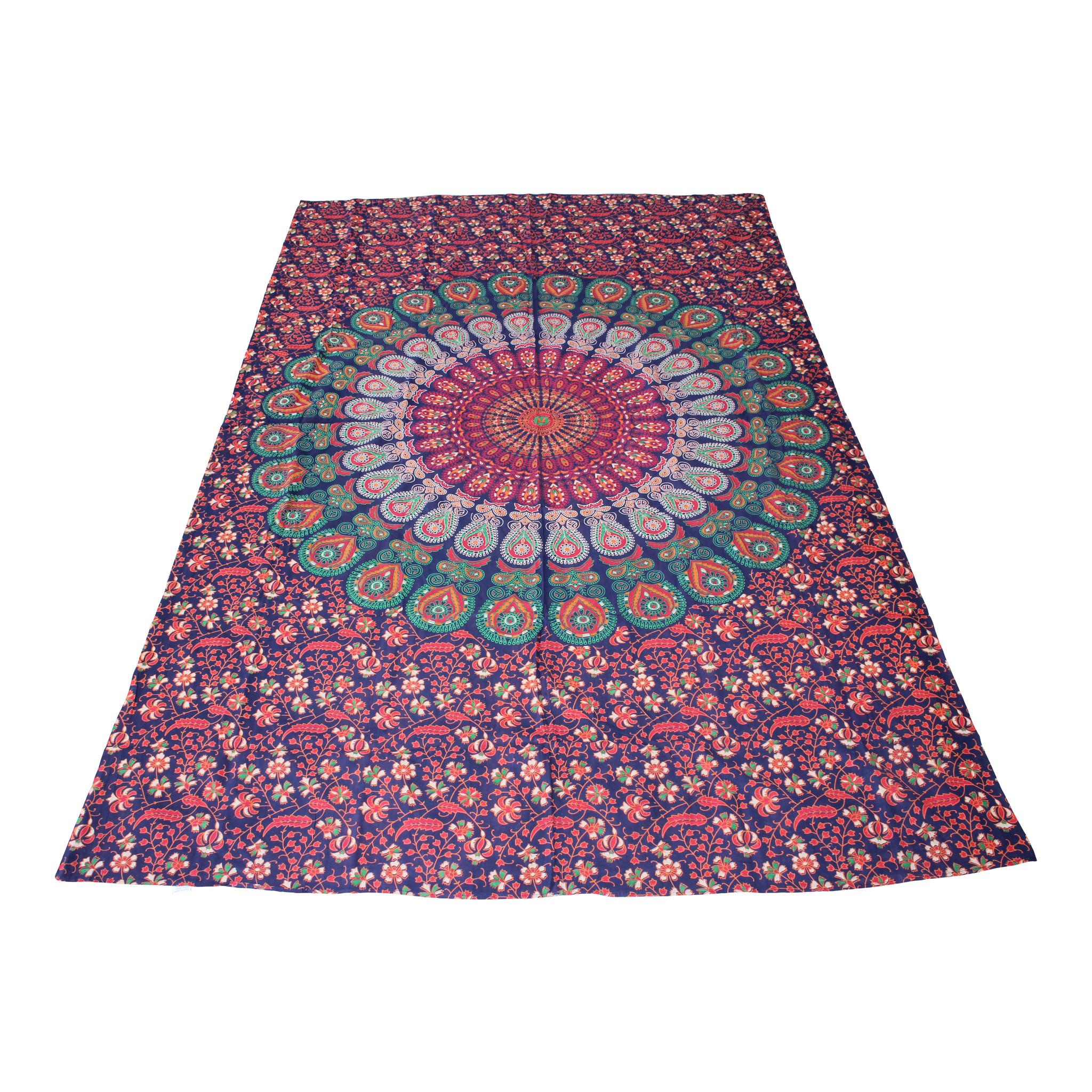 Myroundie Myroundie – roundie  - rechthoekig strandlaken – strandkleed - yoga kleed - picknickkleed - speelkleed - muurkleed - 100% katoen  - 140 x 210 cm - 840