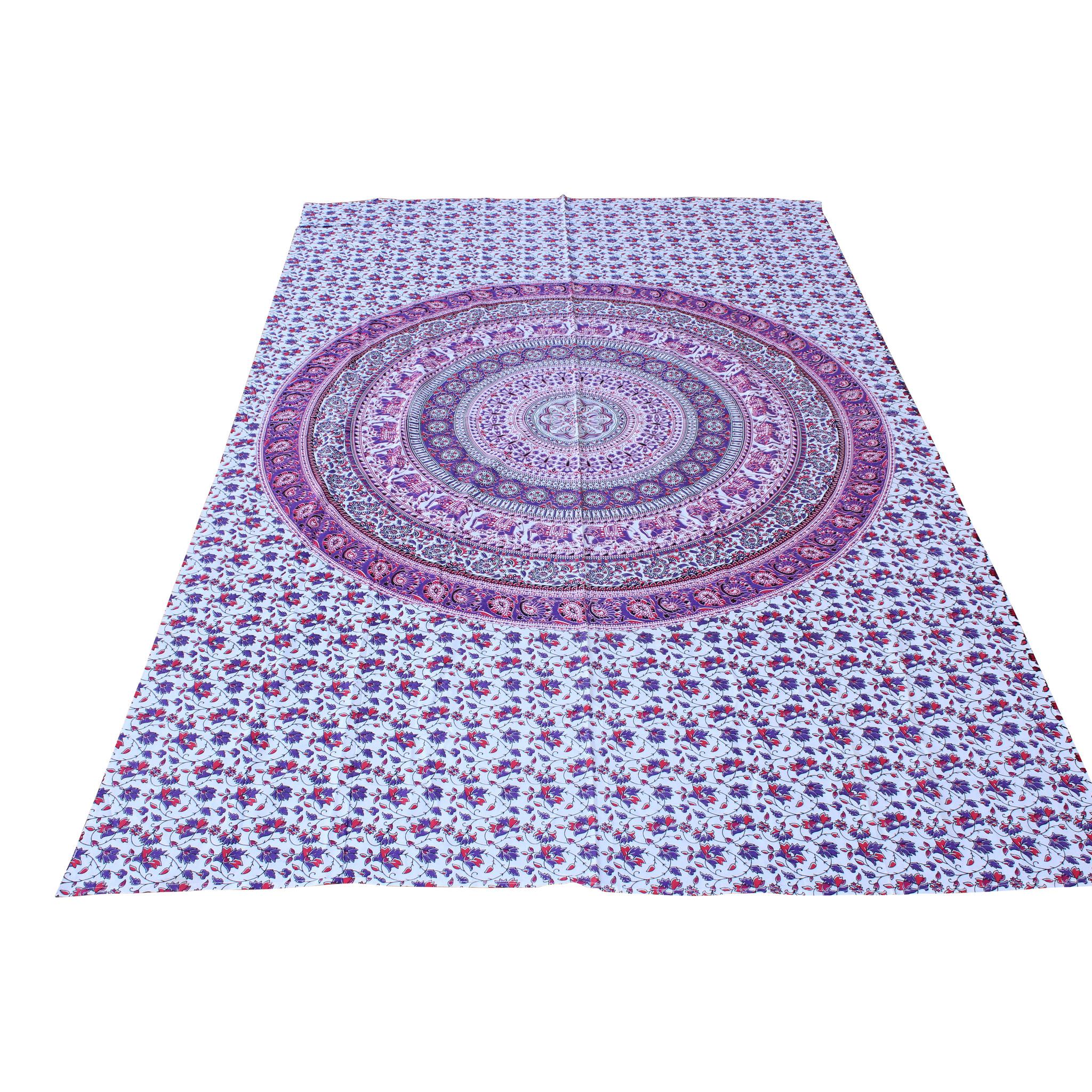 Myroundie Myroundie – roundie  - rechthoekig strandlaken – strandkleed - yoga kleed - picknickkleed - speelkleed - muurkleed - 100% katoen  - 140 x 210 cm - 843