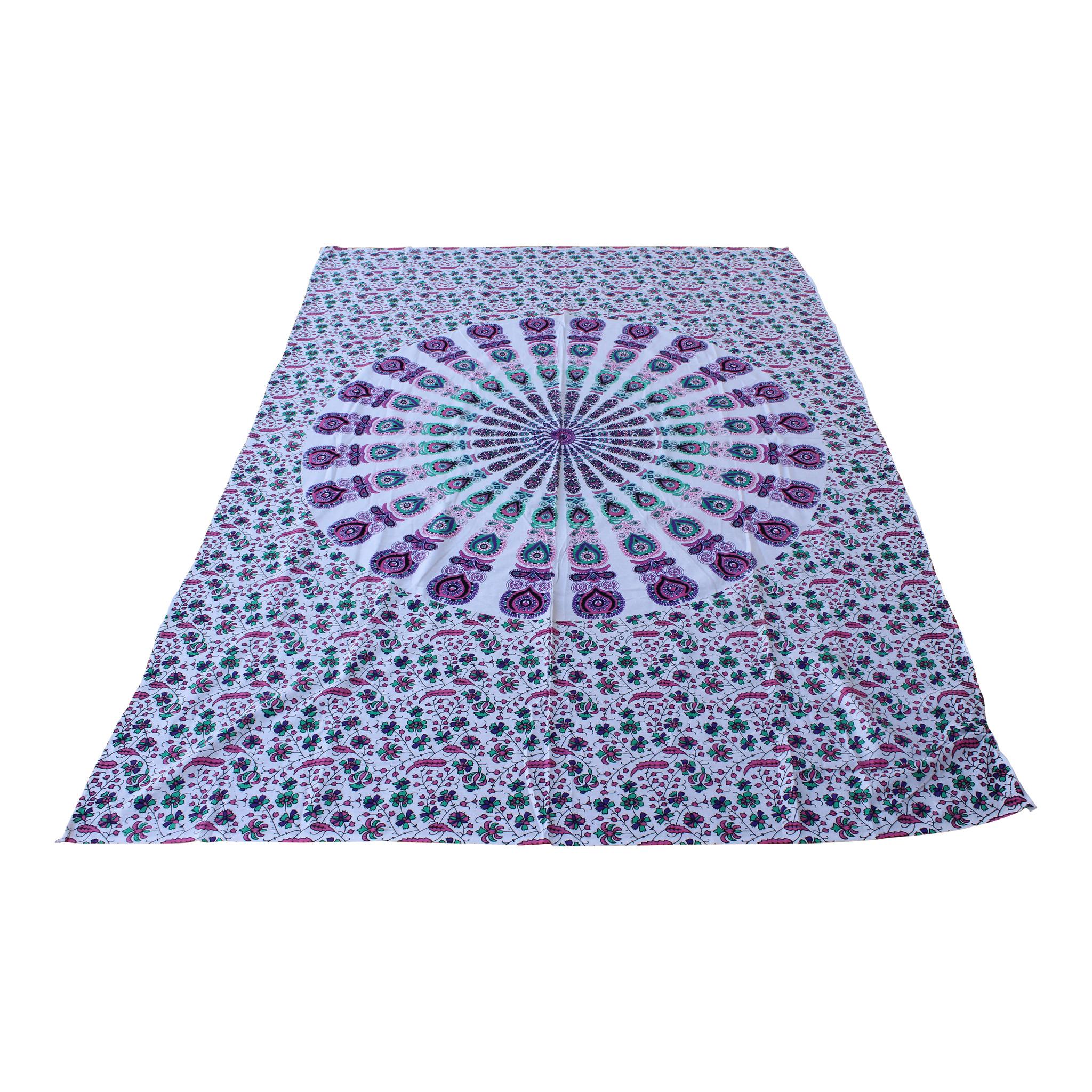 Myroundie Myroundie – roundie  - rechthoekig strandlaken – strandkleed - yoga kleed - picknickkleed - speelkleed - muurkleed - 100% katoen  - 140 x 210 cm - 809