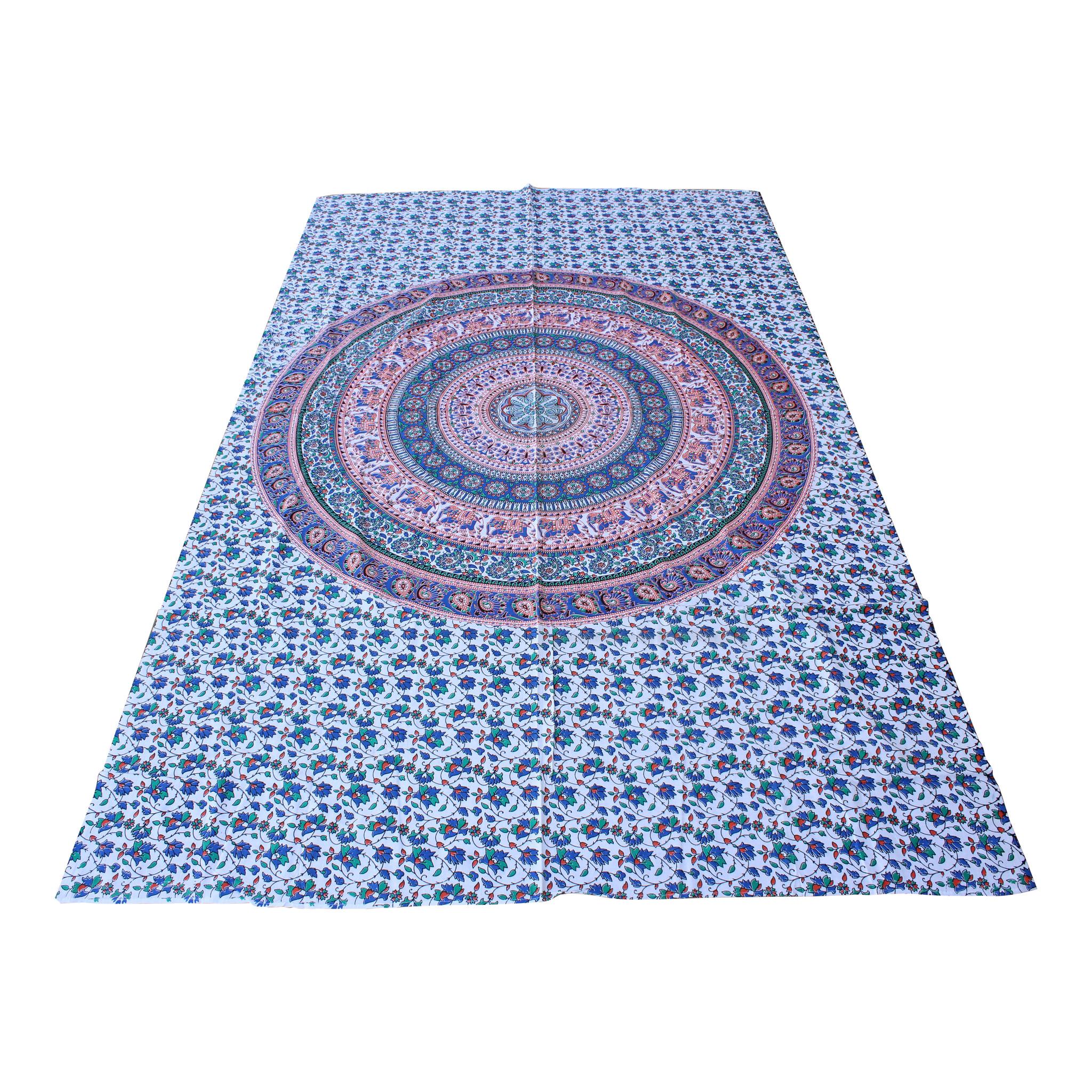 Myroundie Myroundie – roundie  - rechthoekig strandlaken – strandkleed - yoga kleed - picknickkleed - speelkleed - muurkleed - 100% katoen  - 140 x 210 cm - 838