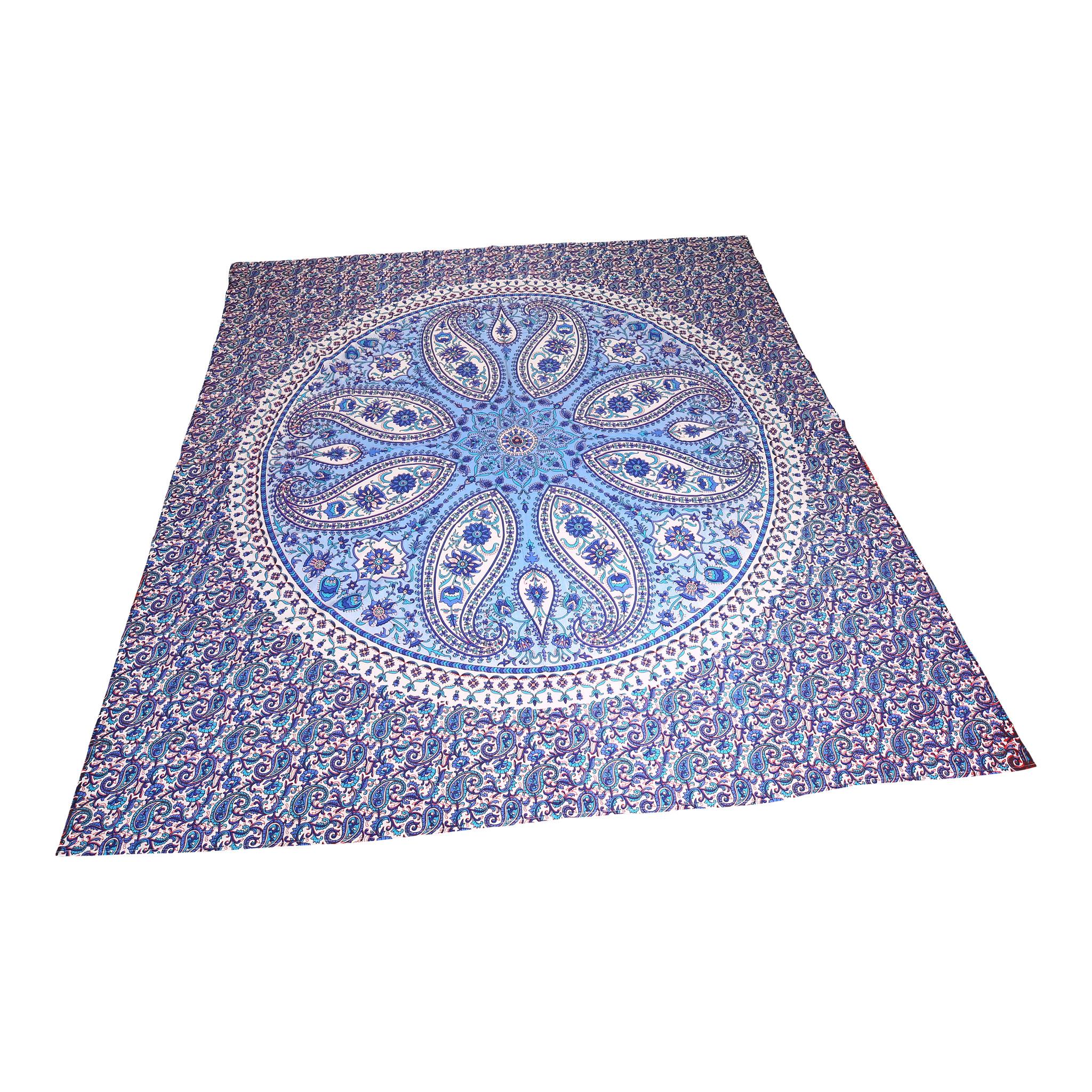 Myroundie Myroundie - roundy - vierkant strandlaken XL – yoga kleed- speelkleed - picknickkleed -100% katoen – 952