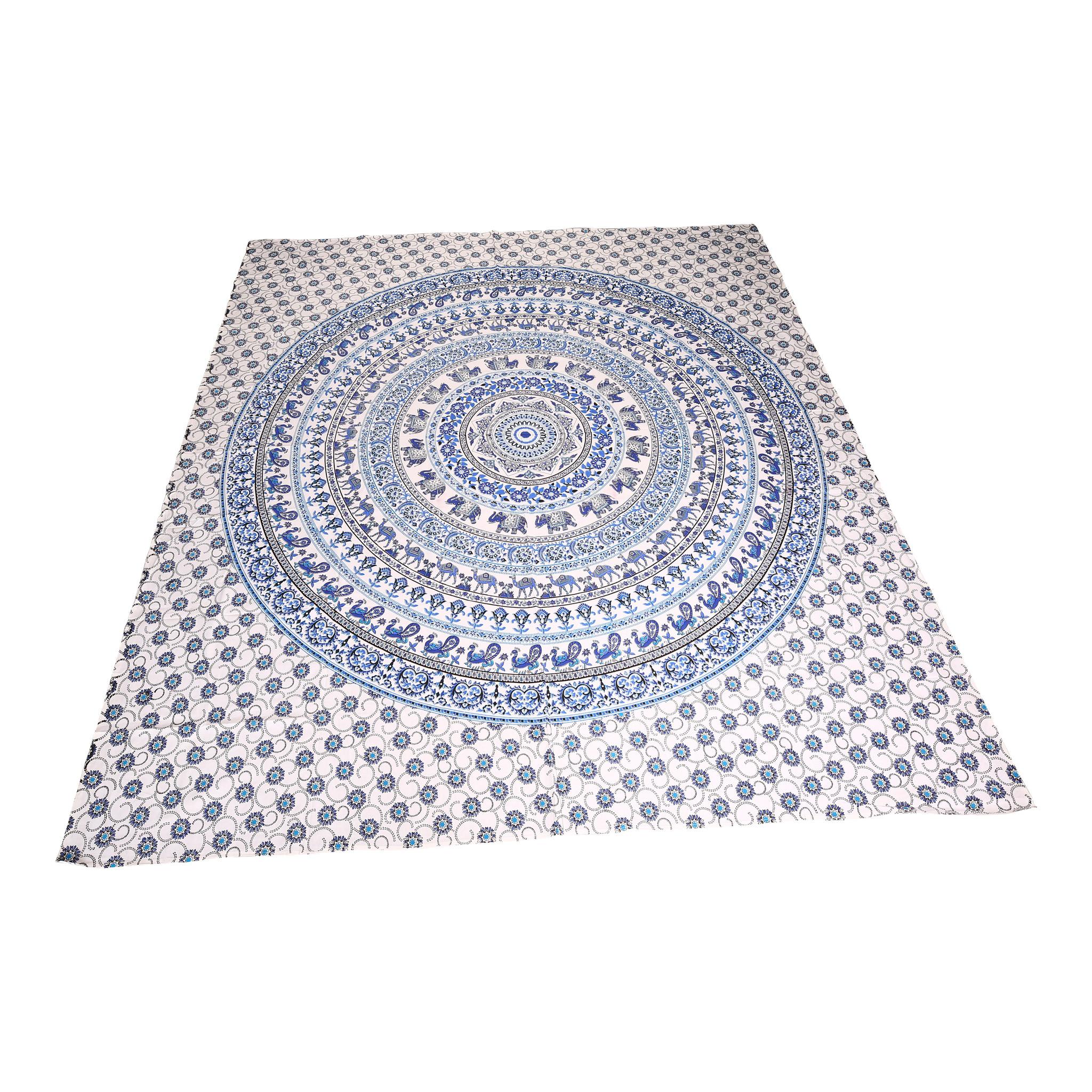 Myroundie Myroundie - roundie - vierkant strandlaken XL – yoga kleed- speelkleed - picknickkleed -100% katoen – Q25